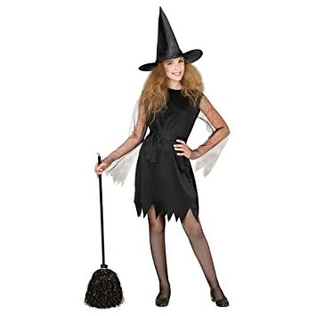 WIDMANN- Bruja con Sombrero Disfraz para niño, Color Negro, S ...