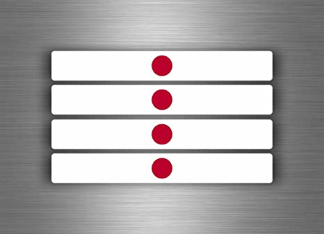 Akachafactory 4 X Selbstklebend Sticker Auto Moto Stripes Flagge Tuning Japoj Japanischen Auto