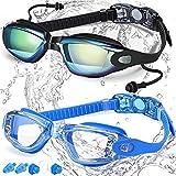 Swim Goggles, Pack of 2, Swimming Goggles No...