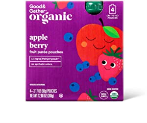 Good & Gather Organic Apple Berry Fruit Squeezers Puree Pouches On-the-Go - 4 ct.