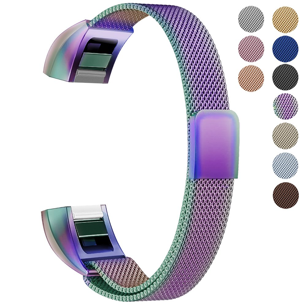 Oitom For Fitbit Alta HR Accessory Bands and For Fitbit alta Band,(Large 6.7''-9.3'' Rainbow)