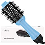 Hair Dryer Brush, Aima Beauty 4-in-1 Upgrade Hot Air Straightener Curler Function for Women, Blue