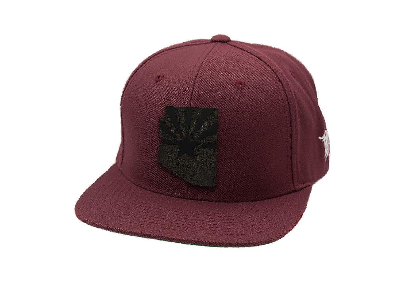 817239ef491 Branded Bills Arizona 'Midnight 48' Black Leather Patch Snapback Hat- -  Black/OSFA at Amazon Men's Clothing store: