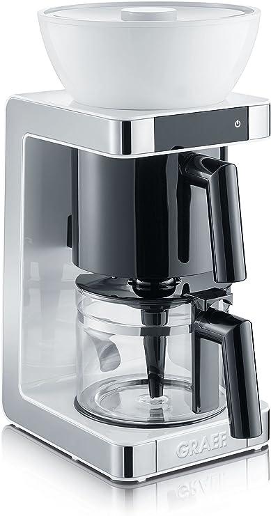 Graef FK 701 Cafetera, 1200 W, 1.25 litros, De plástico, Acero Inoxidable, Blanco: Amazon.es: Hogar