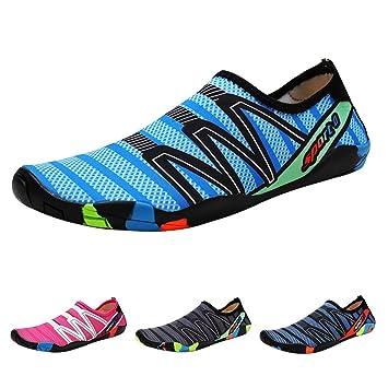 6b5df63aeb737 Qimaoo Zapatos de Agua Escarpines Zapatillas Calzado de Playa Descalzo  Barefoot Agua Respirable Calcetines para La