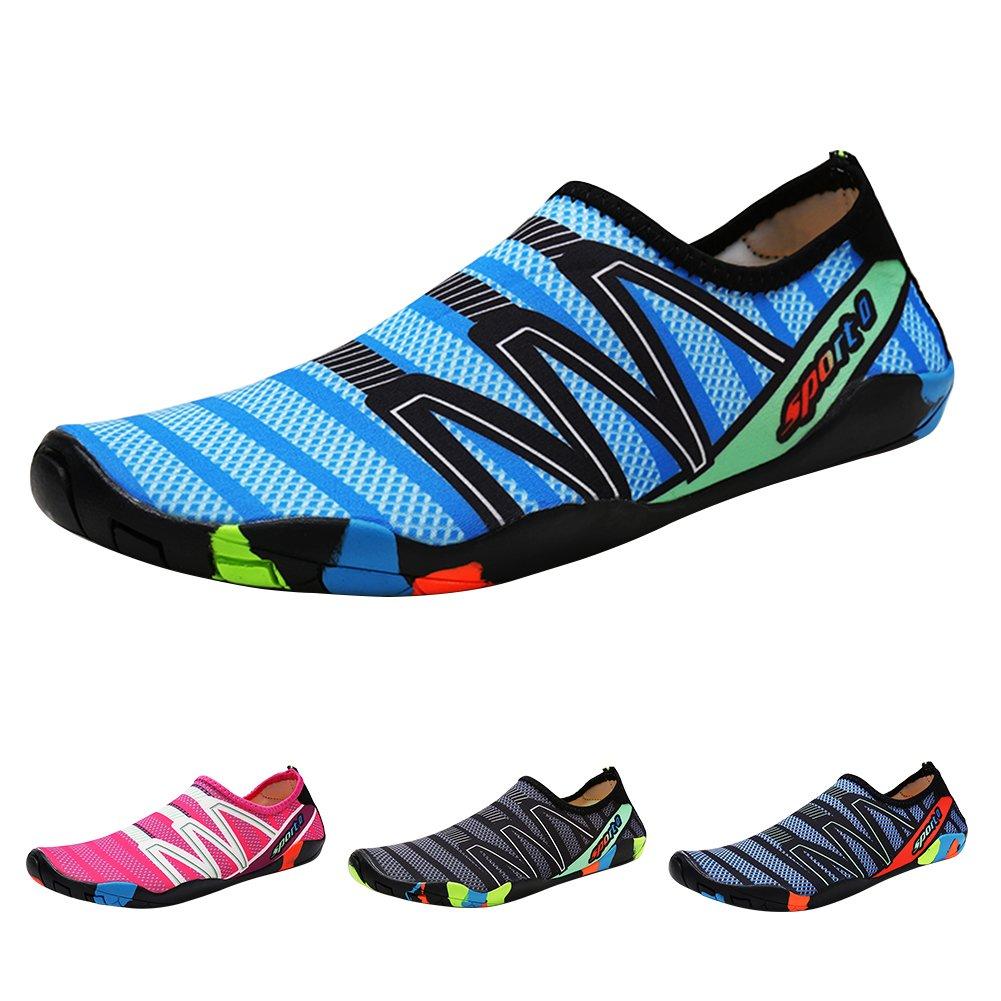 KUNSHOP Adult Water Shoes Quick Dry Barefoot Sports Sneakers Aqua Beach Sandals for Women Men