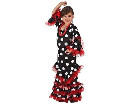 Atosa - Disfraz de sevillana para niña, talla 3-4 años (8422259071457)