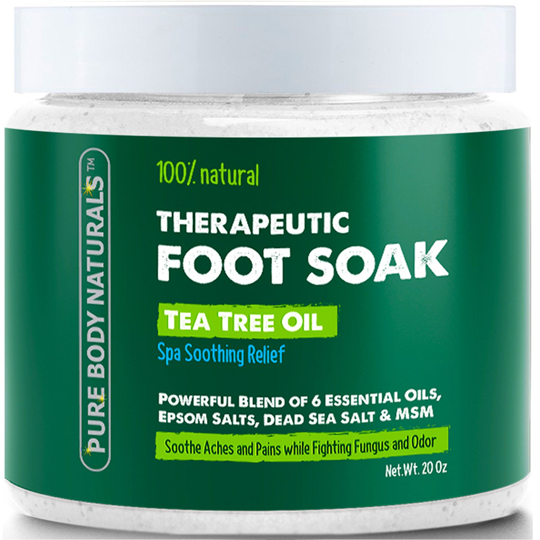 Pure Body Naturals Therapeutic Tea Tree Oil Foot Soak, 20 Oz