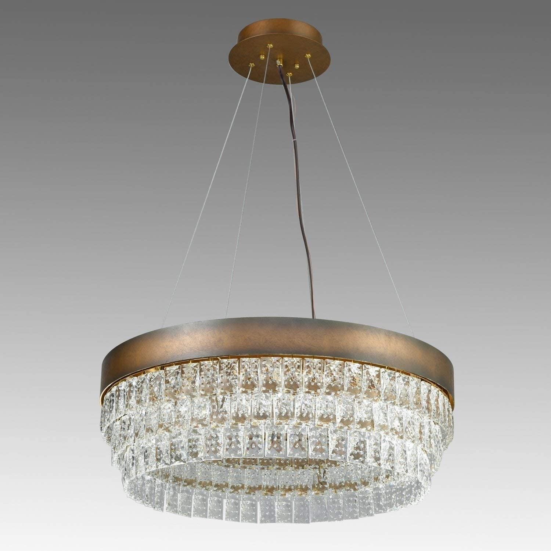 alania crystal halo chandelier modern