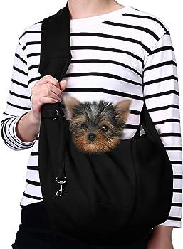 TOMKAS Small Dog Cat Carrier Sling Hands Outdoor Travel Bag