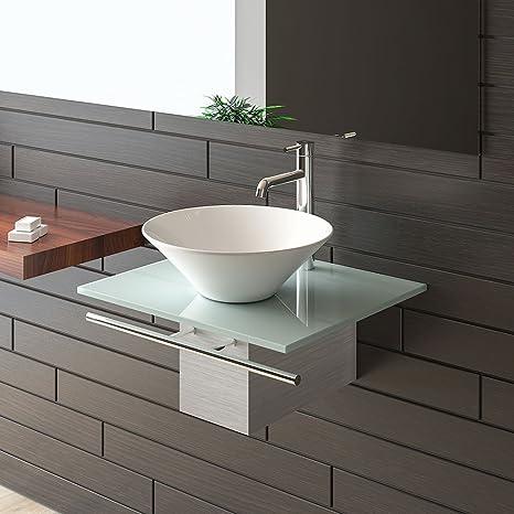 Alpenberger 1 évier Meuble Sous Vasque En Verre Design Cadre Pour