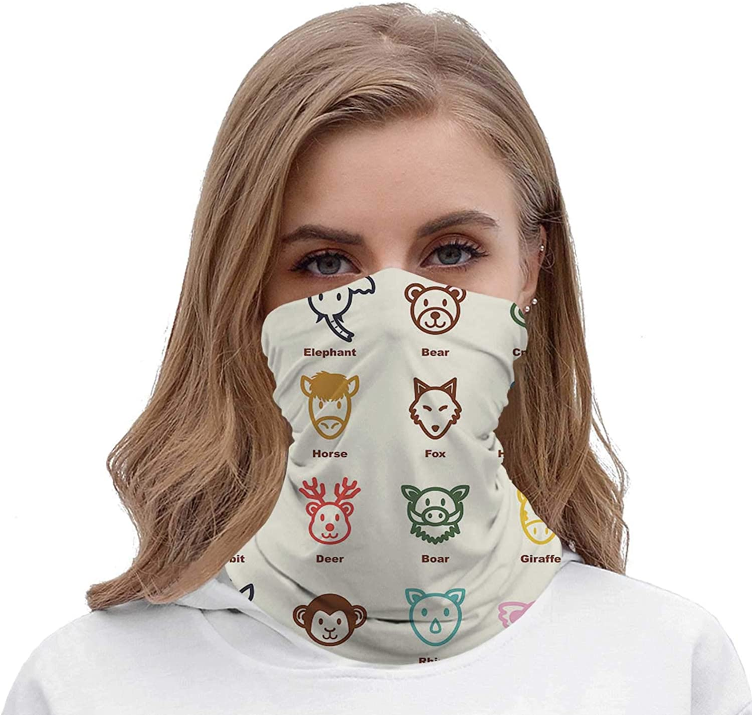 Vector Dogs Collection - - Japan,Face Scarf Outdoor wear ana for Women Face Scarf 19.6 inch x