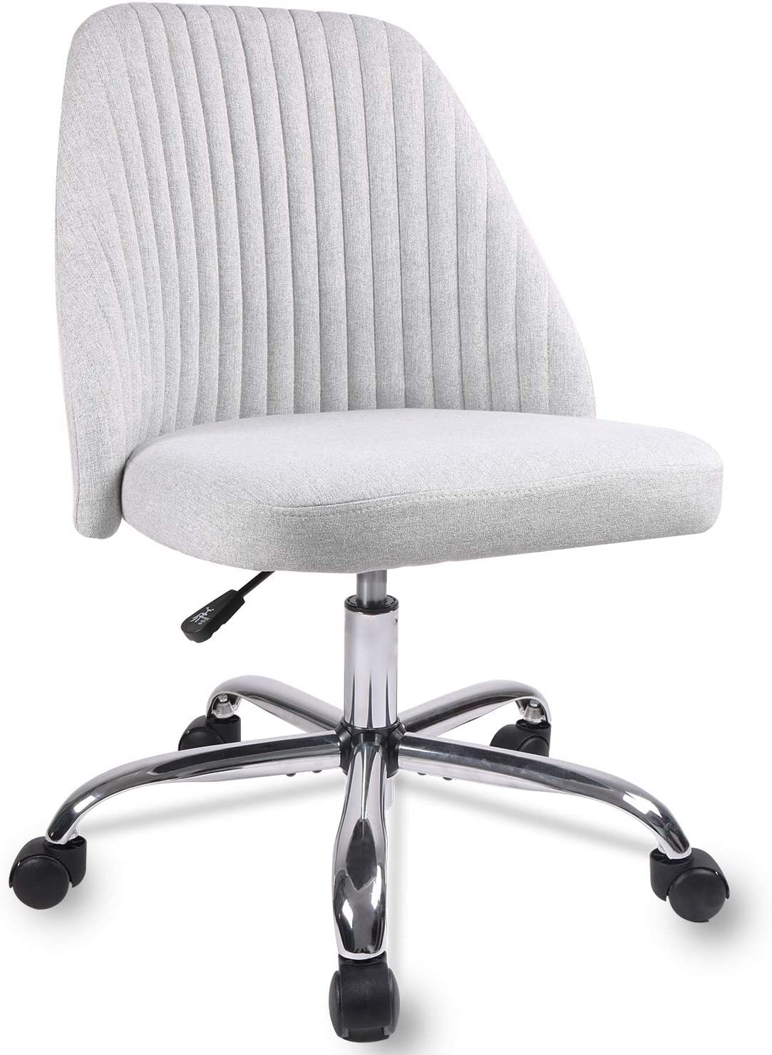 Rimiking Home Office Modern Twill Fabric Adjustable Mid-Back Task Ergonomic Executive Chair, Gray