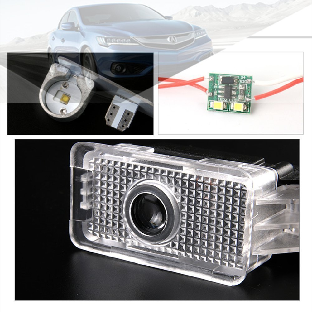 Entry Welcome Lights Courtesy Lights Ground Lamps Kit Replacement IHEX Auto 2pcs Car Door Lights LED Logo Acura Ghost Shadow Lights Door Projector Lights MDX//RLX//ZDX//TLX //TL