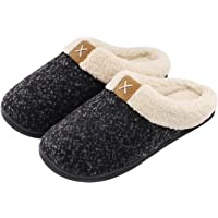 bd4e5a5d4dbf Women s Cozy Memory Foam Slippers Fuzzy Wool-Like Plush Fleece Lined House  Shoes w