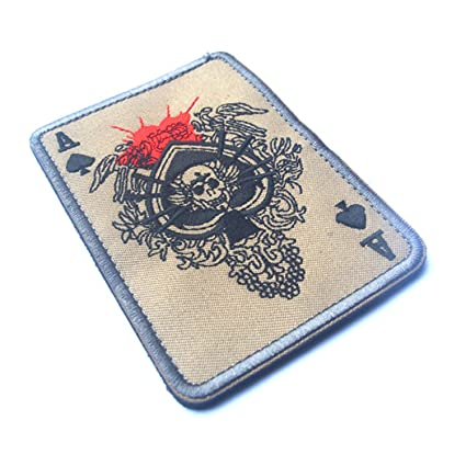 Arts,crafts & Sewing Tad Death Card Rectangular Badge Embroidery Poker Tactical Badges Hook And Loop Military Morale Armband Army Combat Badge Special Summer Sale