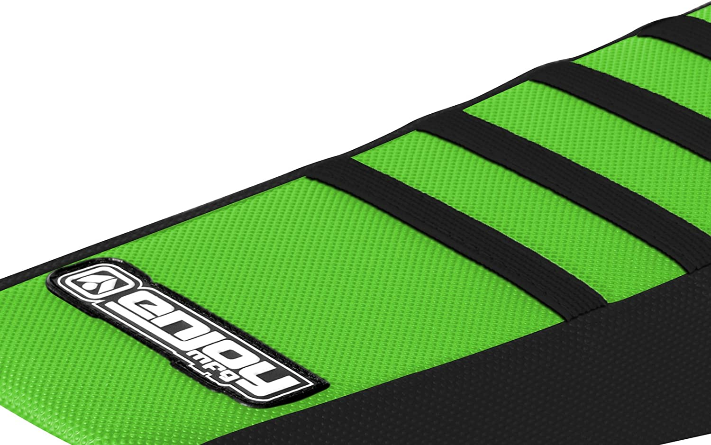 Enjoy MFG Ribbed Seat Cover for 2014-2017 Kawasaki KX 85 KX 100 All Black//Black Ribs
