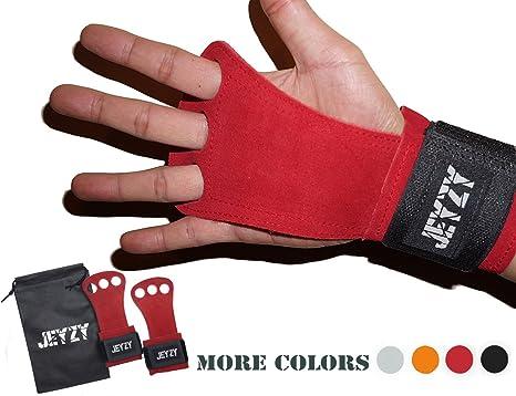 Piel gimnasia Grips 3 agujero mano Grips con apoyo de la muñeca palma protección para dominadas