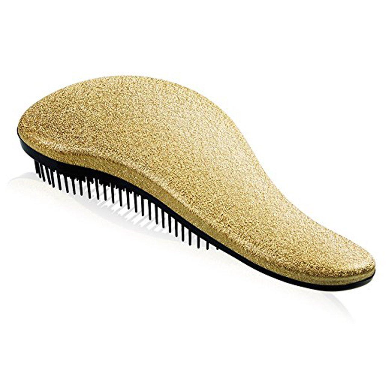 Detangling Hairbrush Comb- Glide Through All Types of Natural & Tangled Hair - Dry & Wet Hair Brush- Gold Sparkle Hair Detangler Brush - For Kids, Women, Men (Gold) by Outopest (Image #3)