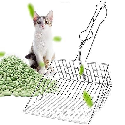 Petyoung Pala para Gatos para Mascotas Pala de Metal Bandeja de ...