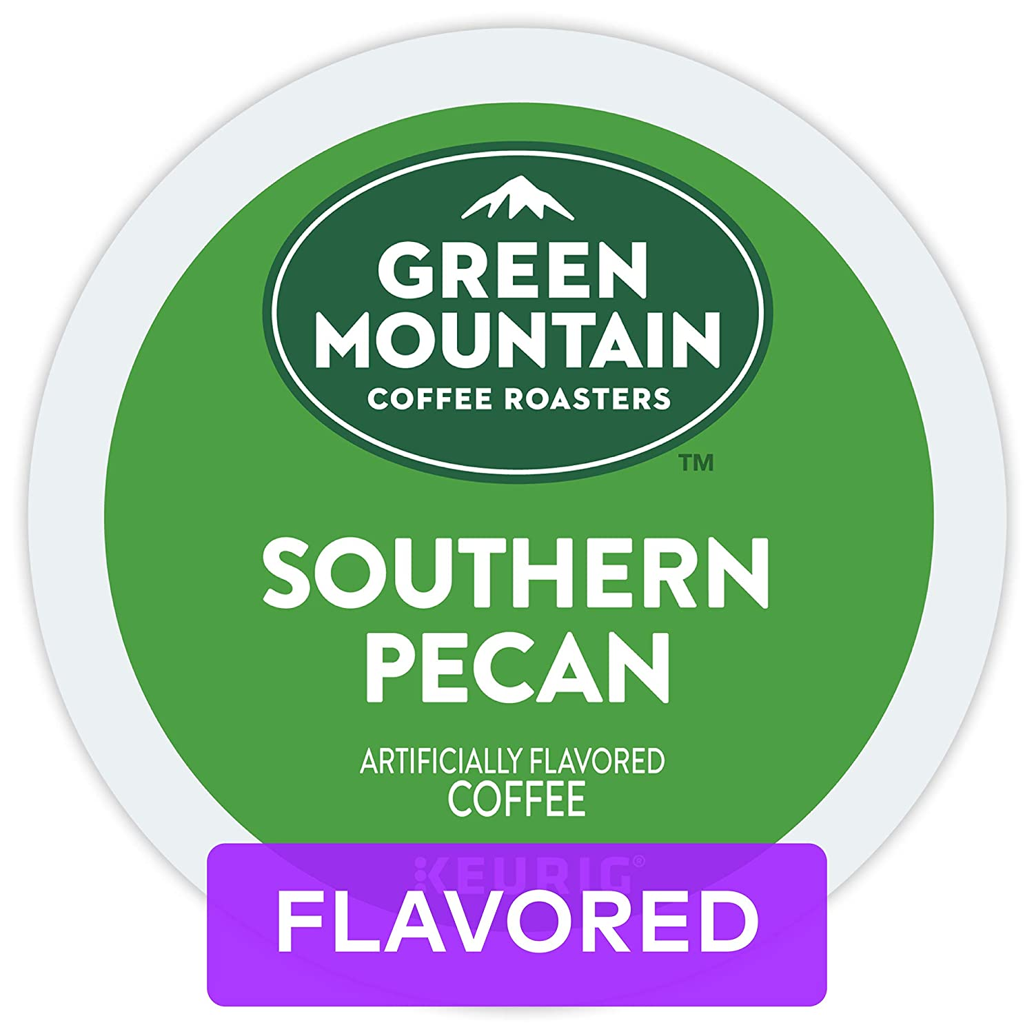 Green Mountain Coffee Roasters Southern Pecan, Single-Serve Keurig K-Cup Pods, Flavored Light Roast Coffee, 72 Count