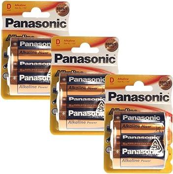 Pack 6 Pilas (3 Blister) PANASONIC LR20 (D) Alkaline Power (1.5V ...