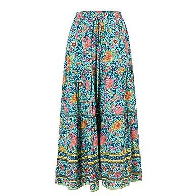 Availcx-Sexy Long Skirt Faldas Midi de Cintura Alta para Mujer ...