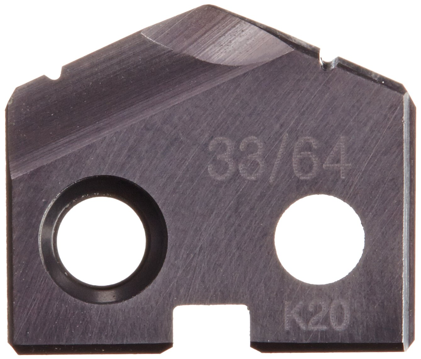 Pack of 2 33//64 Diameter TiAlN Finish 1//8 Thick YG-1 S230 Carbide Throw-Away Drilling Insert