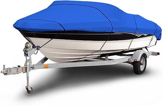 V-Hull  Boat Cover GRAY 600 Denier Ski Deluxe  20/' 21/'  22/'   Runabout