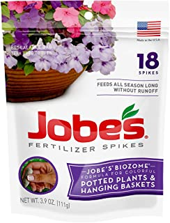 product image for Jobe's Hanging Baskets and Potted Plants Fertilizer Spikes, 18 Spikes