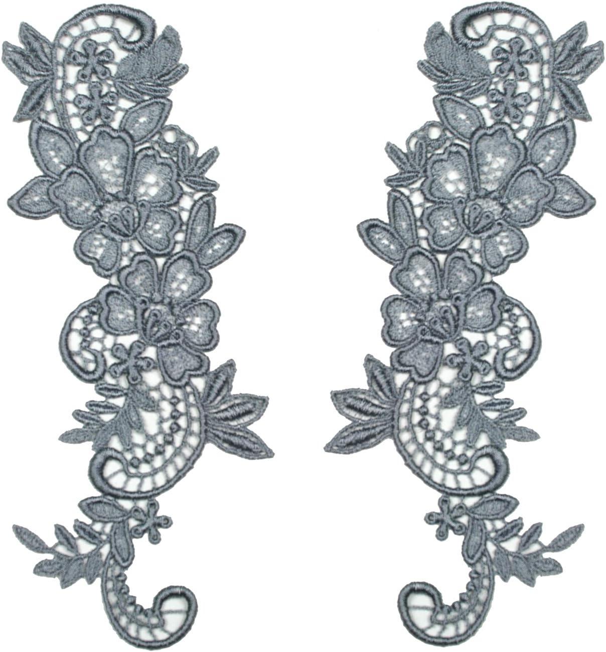 Applique,Wedding Sew-on Guipure Lace Flower Motif 25 - Colours - P-2 Patch