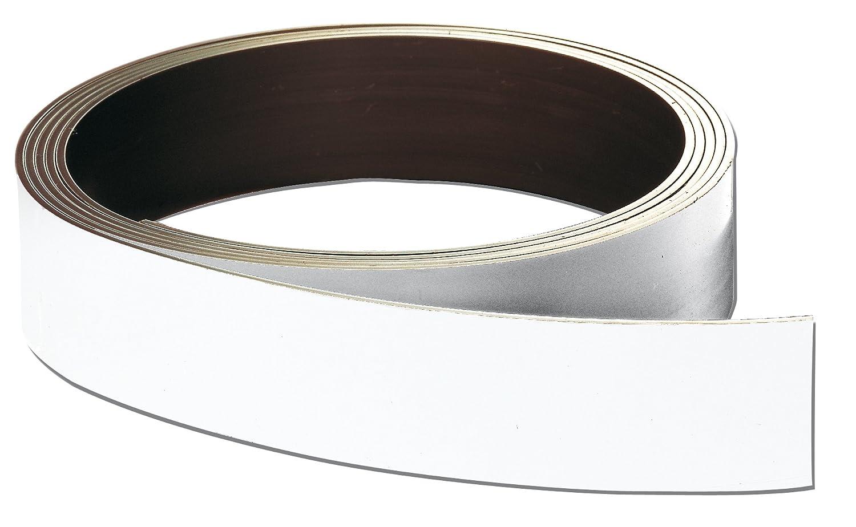 Franken LS40 - Nastro magnetico, 40 mm x 1000 cm / 0.8 mm, colore: bianco