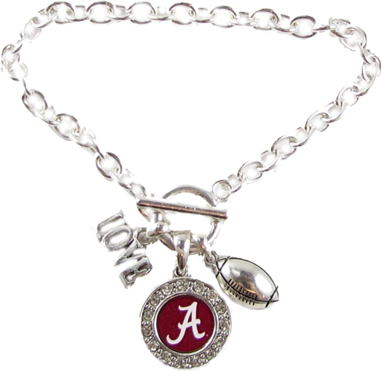 University of Alabama Crimson Tide Charm bracelet necklace-Boys girls women men