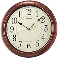 "Seiko 13"" Numbered Wood Finish Wall Clock"