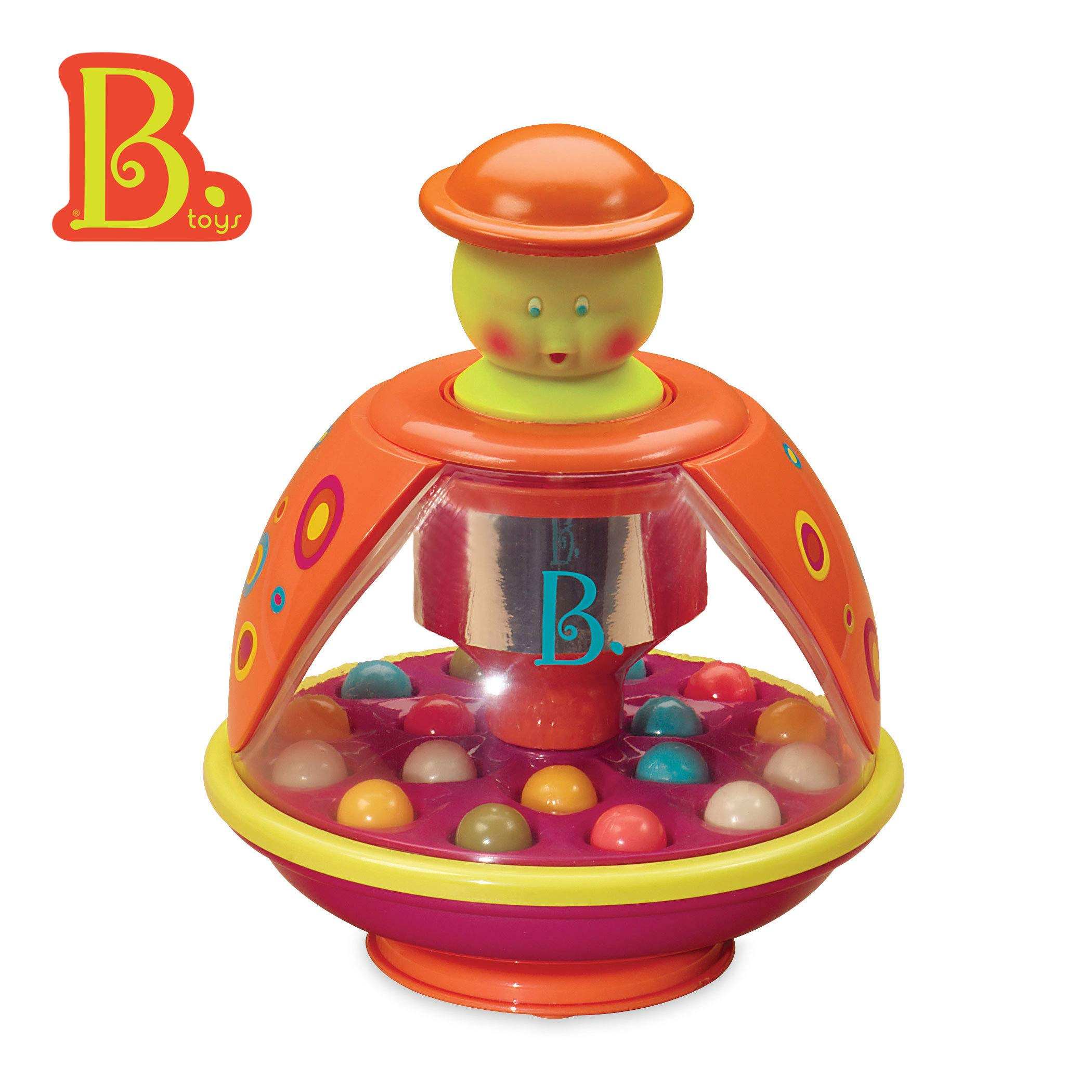 B. Toys - Poppitoppy - Ball Popper Toy Tumble Top - Spinning Toys for Toddlers 1 Year + by B. toys by Battat