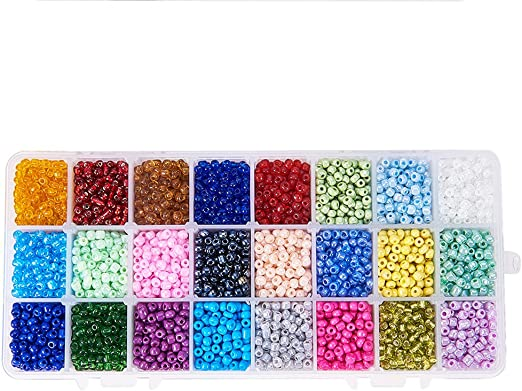 Nibiru Multicolor Opaque Glass Round Seed Beads Assorted Kit for Jewelry Crafting DIY Making 4mm 6000pcs