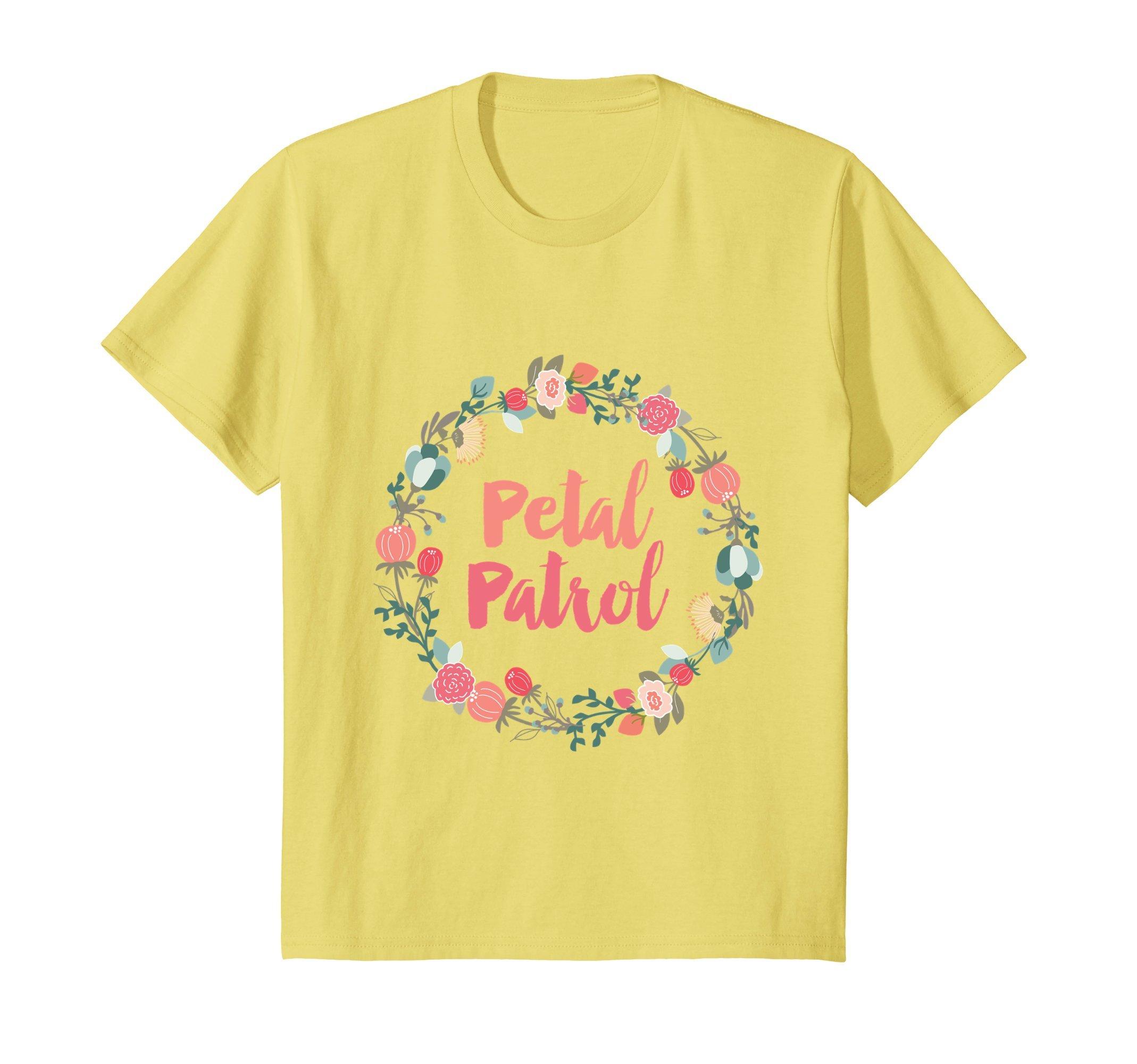 Kids Kids Petal Patrol Flower Girl Shirt, Cute Wedding Shirts 4 Lemon