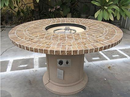 Amazon Com Gas Fireplace Fire Pit Outdoor Porcelain Mosaic Tile