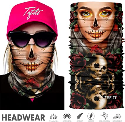 Headwear Headband Funny Eyes Lips Casual Balaclava Headwear 16-in-1 Multifunctional Head Scarves