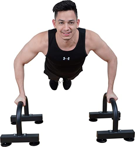 VIGBODY Push Up Stands Dip Station Parallel Bar Upper Body Exercise Equipment Workout Bar Handstand Bars Home Gym