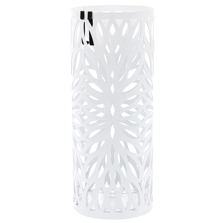 SONGMICS Paragüero Soporte de Paragüas Umbrella Stand Perchero (49 x Ø19.5 cm) Blanco LUC20W