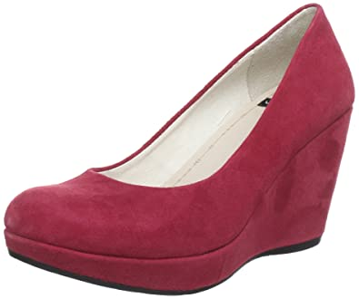 618ac14c9a9 Vagabond Red suede high heeled wedge CA0912  UK 7.5   EU 41  Amazon.co.uk   Shoes   Bags
