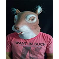 SHENTIANWEI Cute Squirrel Animal Headgear mask Latex Tricky Party bar Show Props to Sell Meng