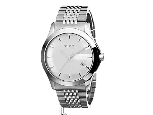 Amazon.com: Gucci G-Timeless Stainless Steel Bracelet Mens Watch(Model:YA126401): Watches