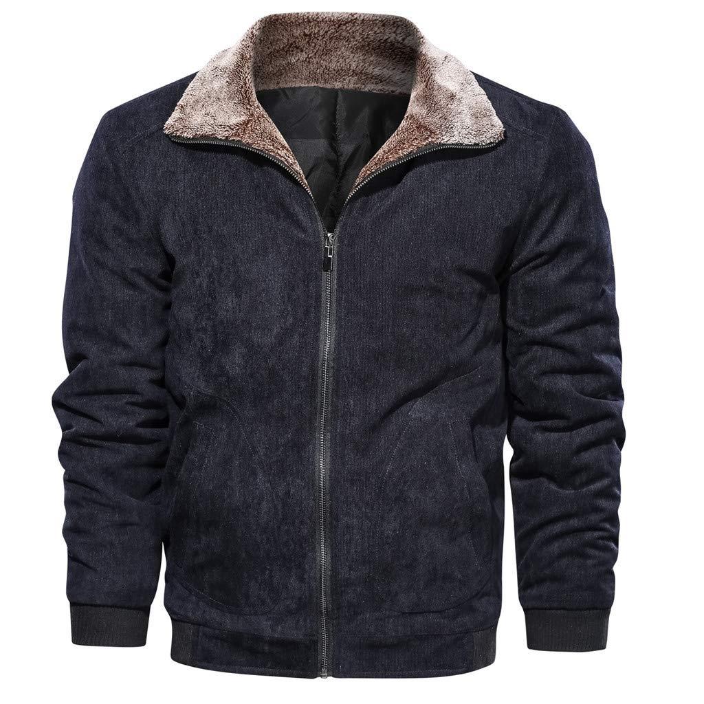 Redacel Men's Winter Full Faux Leather Jackets Zipper Thick Sherpa Lined Faux Jacket Coat Bomber Jacket (Black,6XL) by Redacel