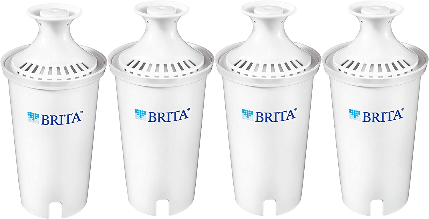 Brita Standard Replacement Filters for Pitchers and Dispensers, 4ct, White: Replacement Pitcher Water Filters: Kitchen & Dining