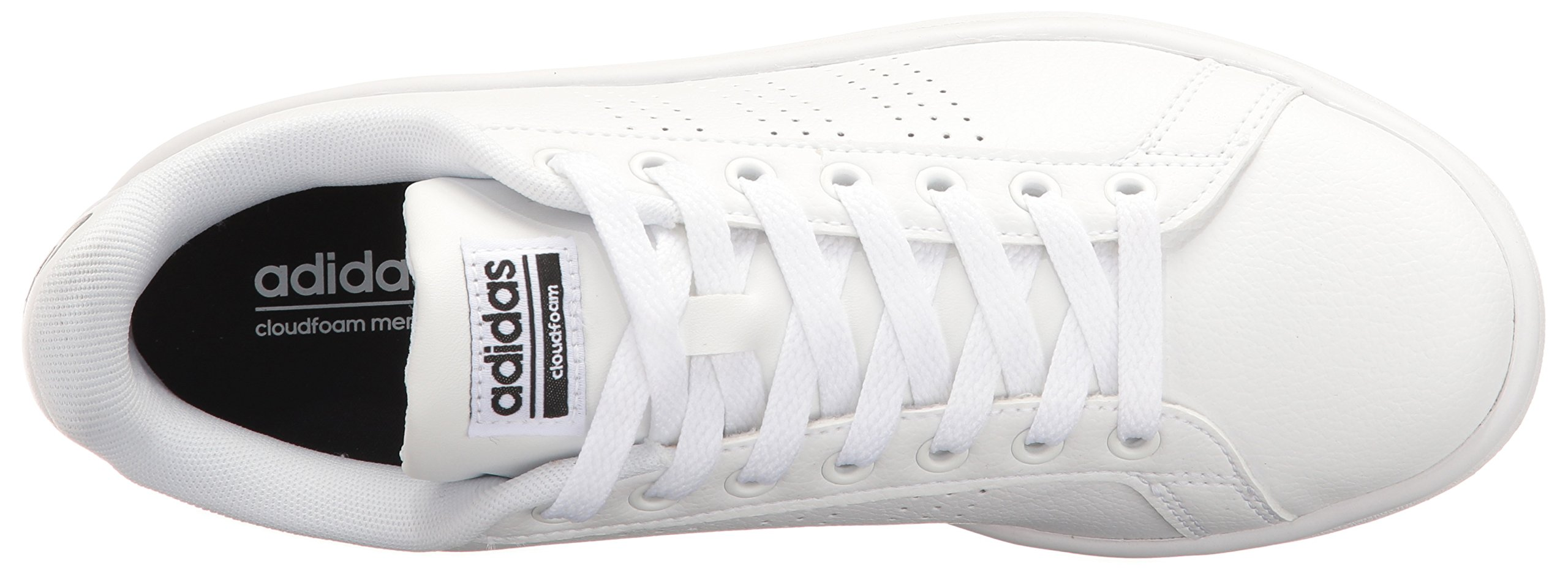 adidas Women's Shoes Cloudfoam Advantage Clean Sneakers, White/White/Black, (7.5 M US) by adidas (Image #8)
