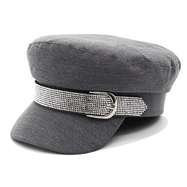 AYALY Gorras Planas Militares Boinas para Mujer Sombrero Octogonal ...