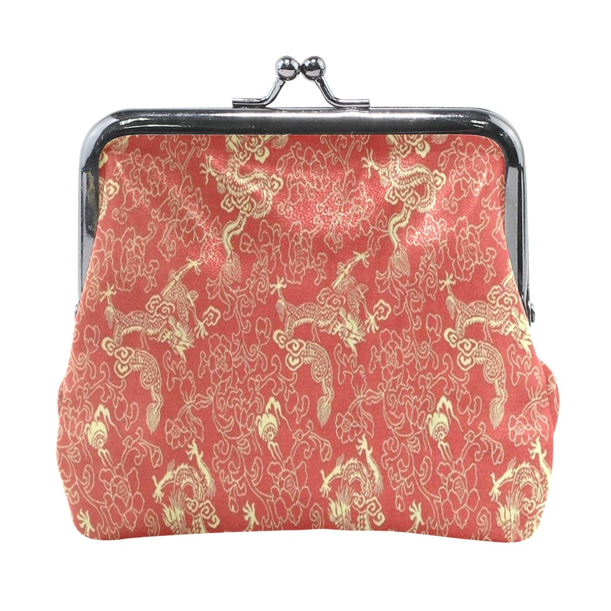 a9f8f2164ef1 Coin Purse Chinese Red Gold Dragon Womens Wallet Clutch Bag Girls ...