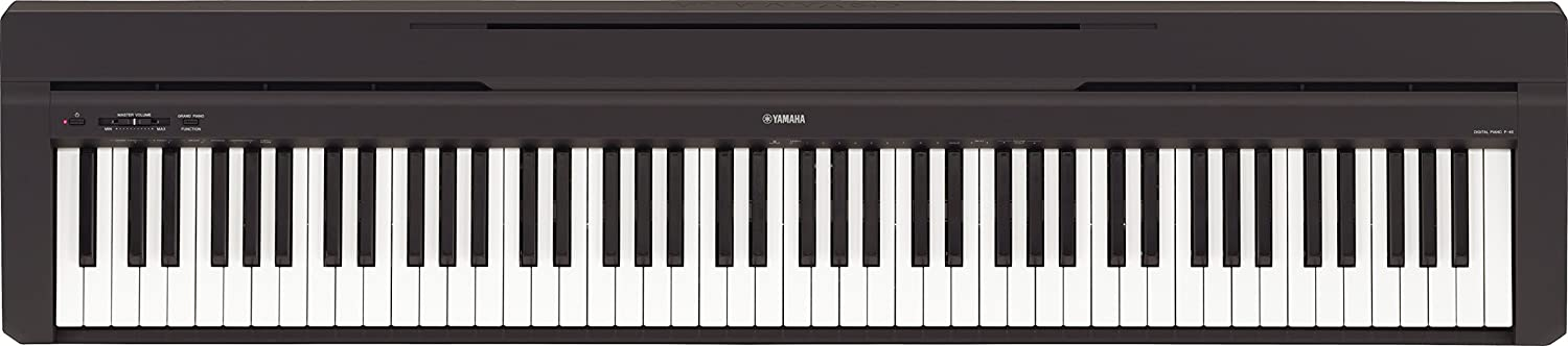 Yamaha P B Piano digital teclas notas color negro